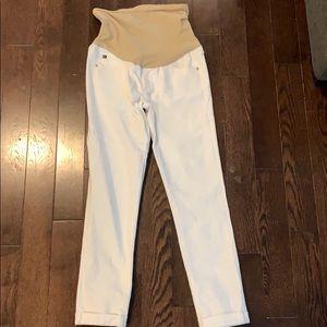 White AG maternity jeans